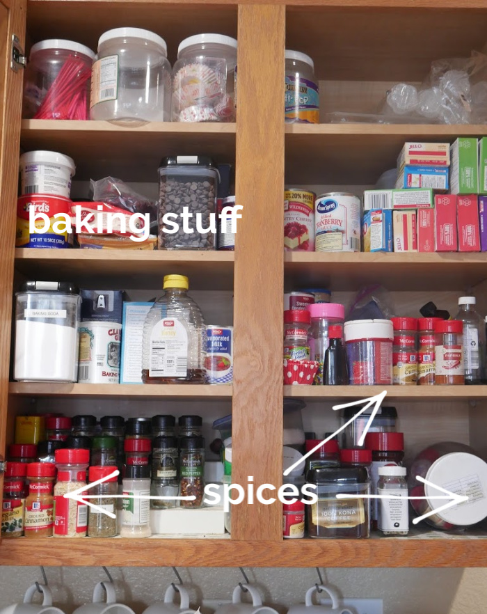 2019 Baking and spices cabinet before image