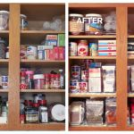 2020 Before and After Baking and Spice Cabinet Organization Tips