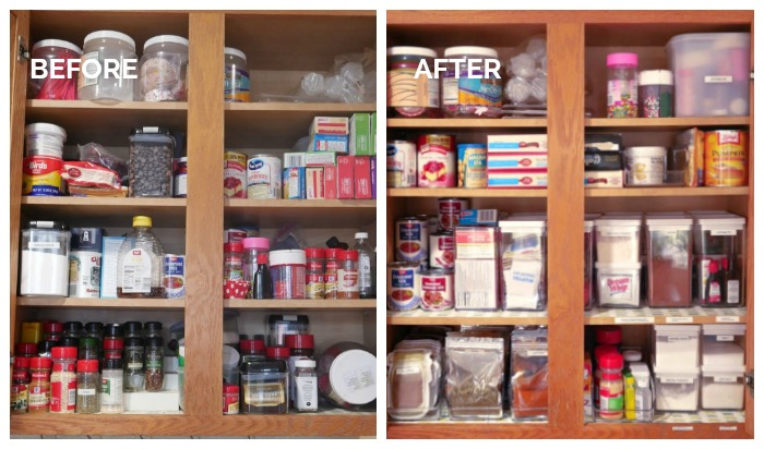 Baking and Spice Cabinet Organization Tips – January Pinterest Challenge