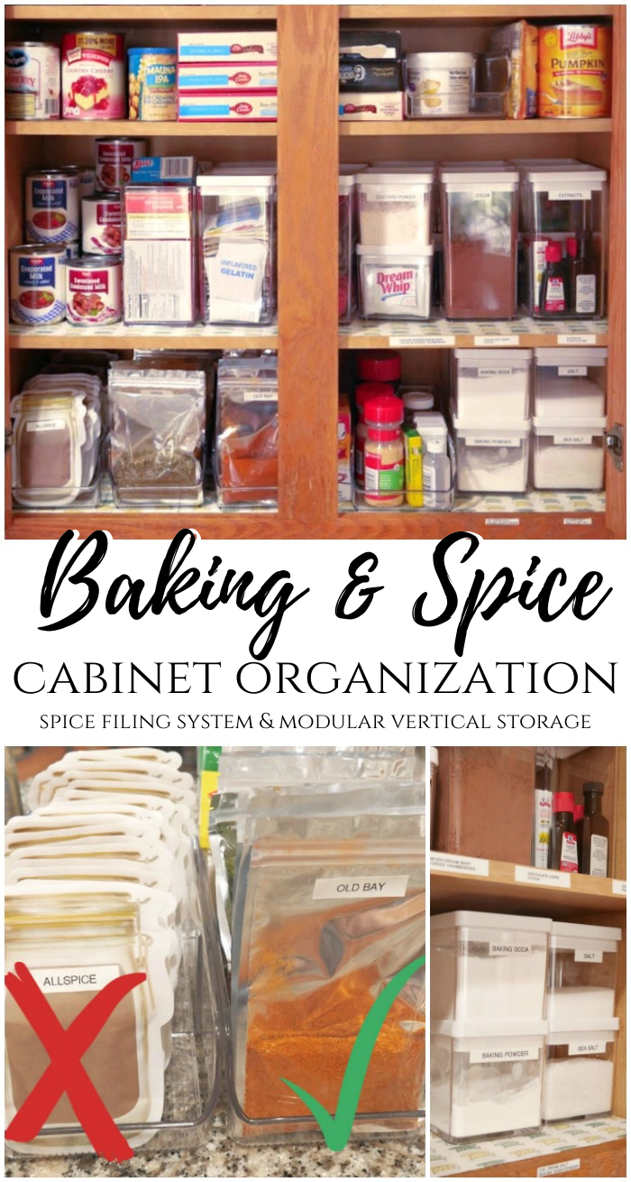 Baking and Spice Cabinet Organization Tips