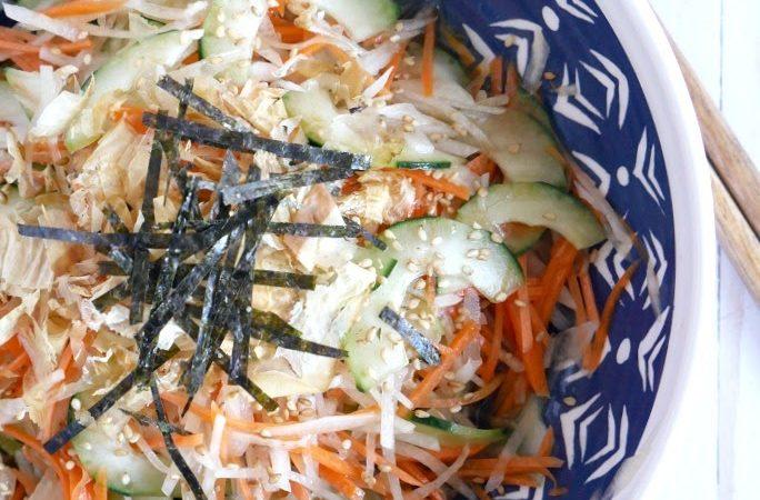 Daikon Carrot Cucumber Salad