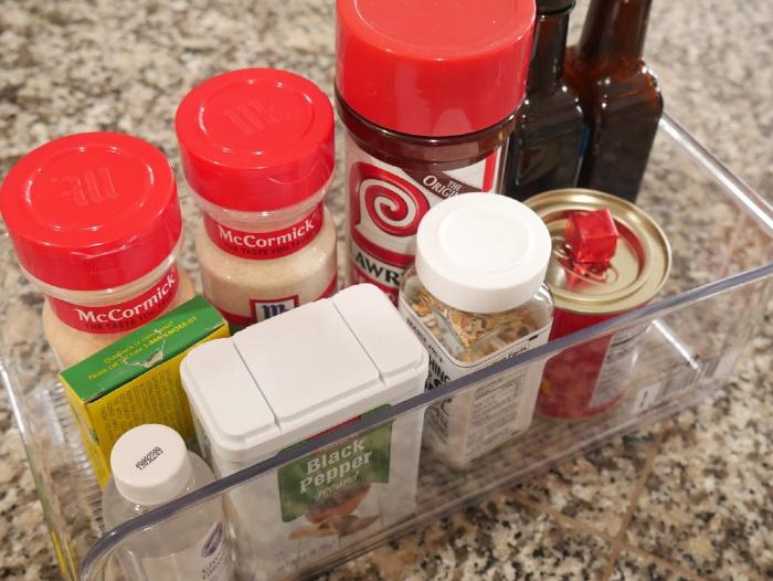 MIsc spices in storage bin