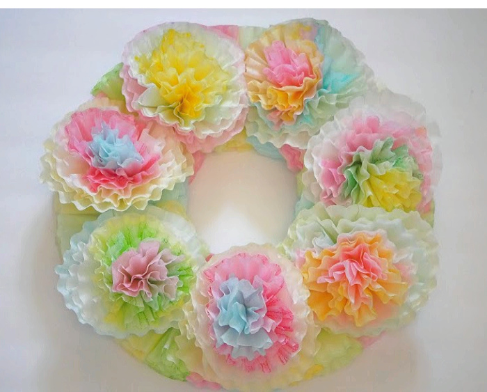 Dry fit pastel coffee filter flowers