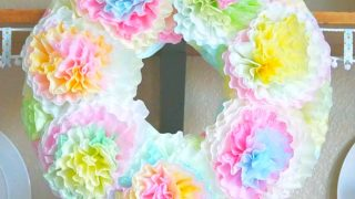 Pastel Spring Coffee Filter Wreath