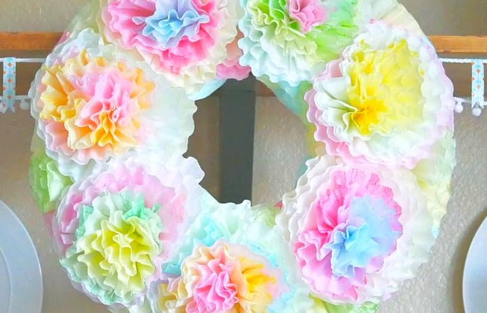 Pastel Coffee Filter Wreath slider