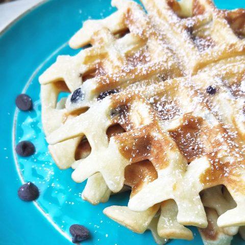 Chocolate Chip Mochi Waffles