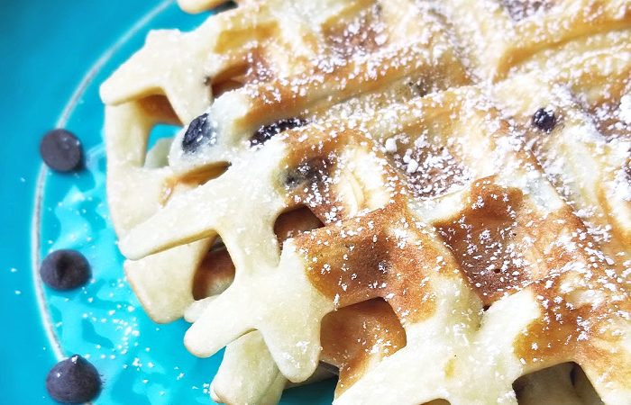 Chocolate Chip Mochi Waffles