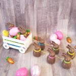 Chocolate Easter Bunny Wagon