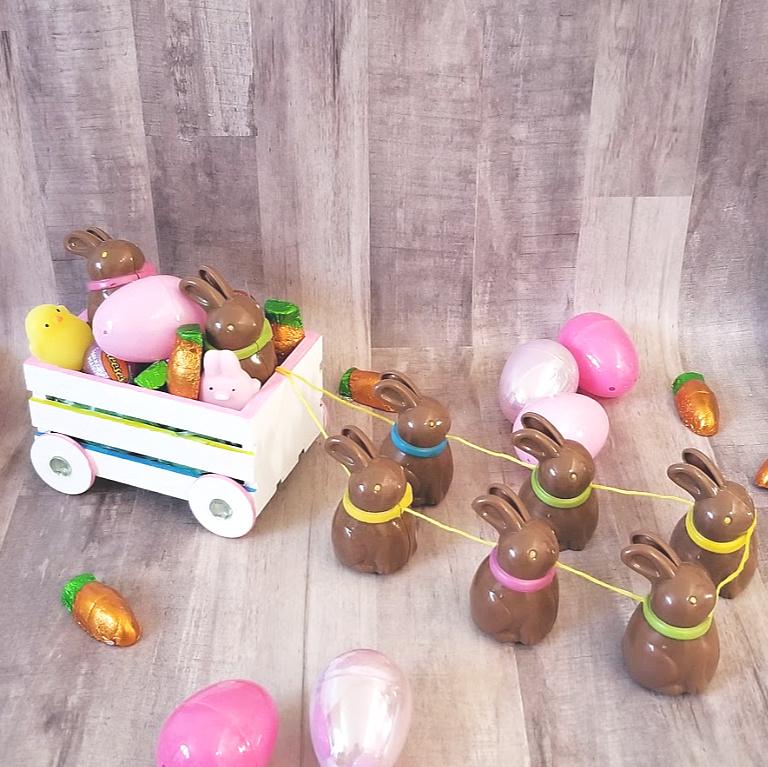 Chocolate Easter Bunny Wagon