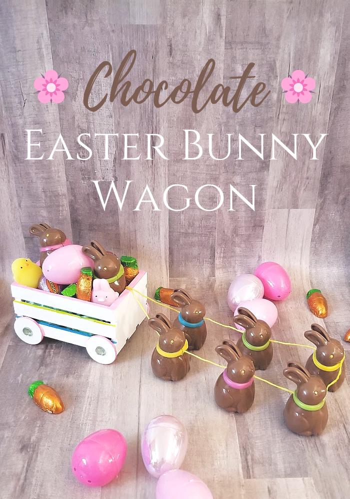Chocolate Easter Bunny Wagon craft tutorial