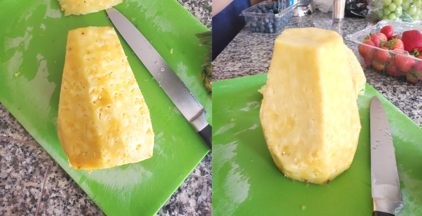 Cut Christmas Tree Shape Pineapple