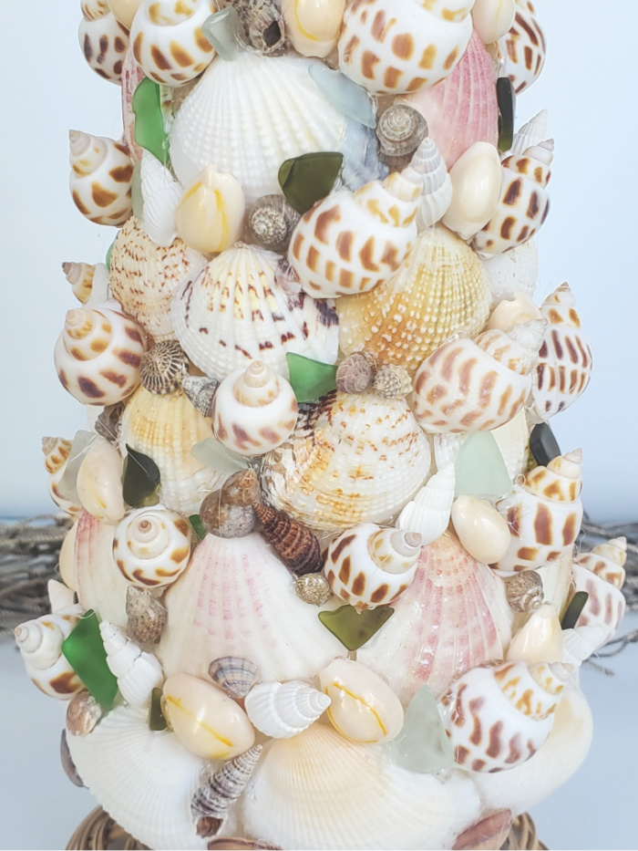 Filled in seashell Christmas tree
