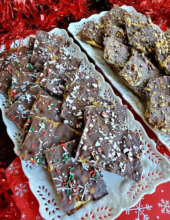 Christmas Crack Bark Trays