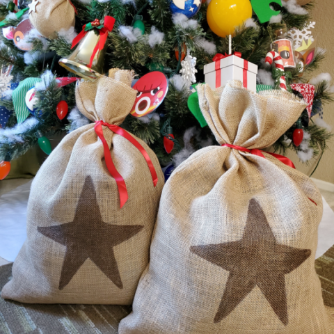 DIY Giant Animal Crossing Money Bags for gifts
