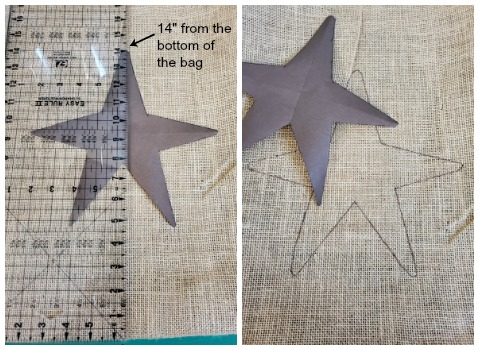 DIY giant Animal Crossing Money Bags star placement