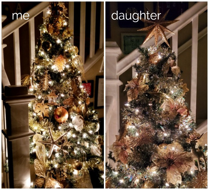 Gold Christmas Tree comparison