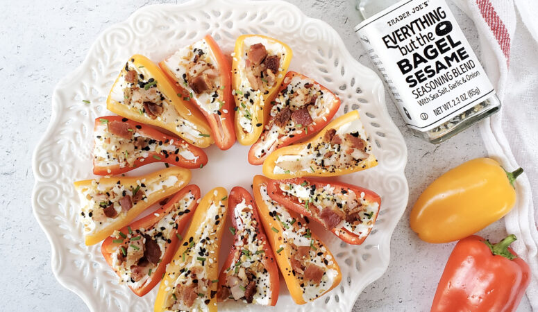 bell pepper with cream cheese and bacon