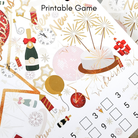 Adult New Year's I Spy Printable Game