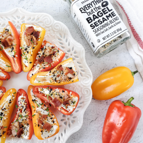 Bell pepper with cream cheese and bacon appetizers