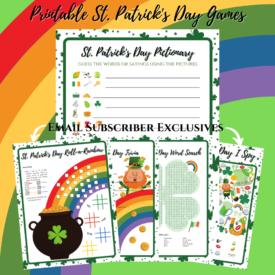 Free Printable St. Patrick's day Game Set
