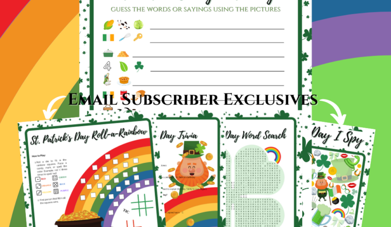 FREE Printable St. Patrick's Day Game Set
