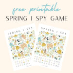 Printable Spring I Spy Game