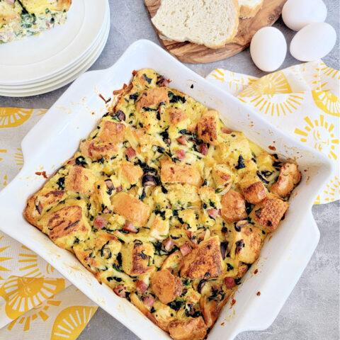 easy strata recipe using leftover bread
