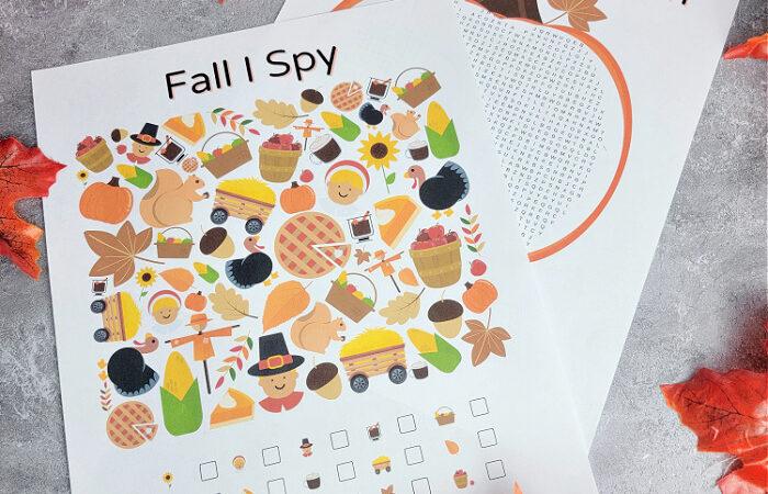 Free Fall I Spy Printable